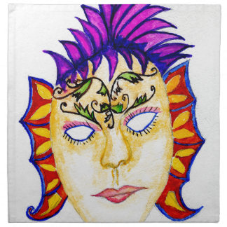 Carnival Mask Watercolor 2 Napkin