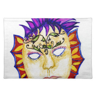 Carnival Mask Watercolor 2 Placemat