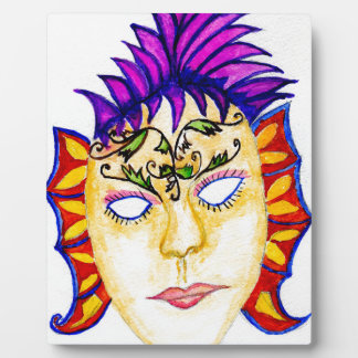 Carnival Mask Watercolor 2 Plaque
