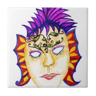 Carnival Mask Watercolor 2 Tile