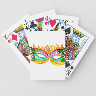 Carnival Mask Watercolor Bicycle Playing Cards