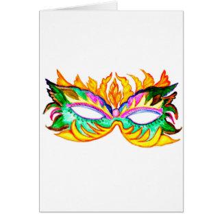Carnival Mask Watercolor Card