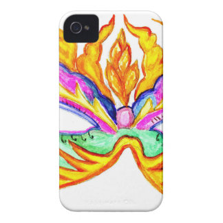 Carnival Mask Watercolor Case-Mate iPhone 4 Case