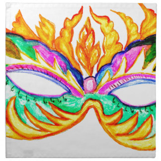 Carnival Mask Watercolor Napkin