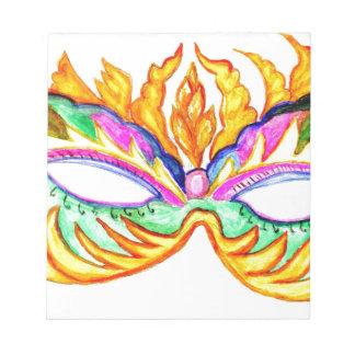Carnival Mask Watercolor Notepad