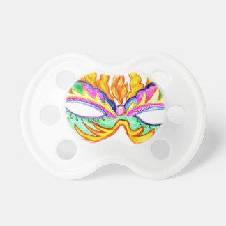 Carnival Mask Watercolor Pacifier