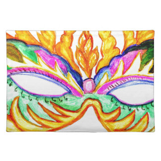 Carnival Mask Watercolor Placemat