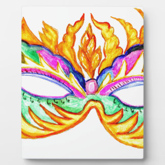 Carnival Mask Watercolor Plaque