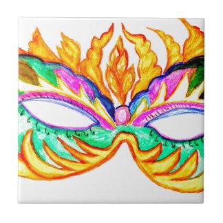 Carnival Mask Watercolor Tile