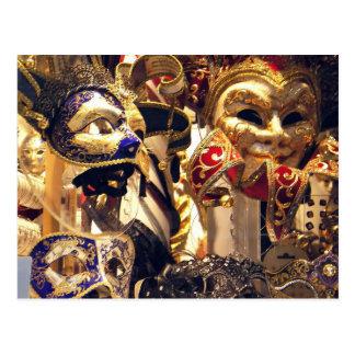 Carnival Mask Window Postcard