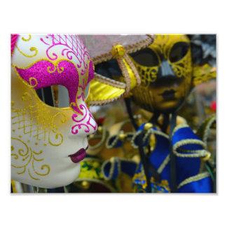 Carnival Masks in Venice Italy Photo Print