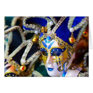 Carnival Masquerade Masks in Venice Italy Card