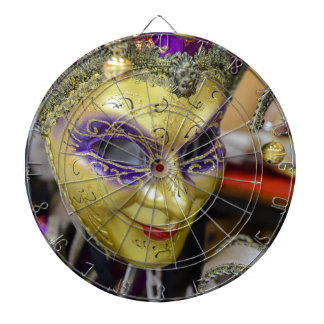 Carnival Masquerade Masks in Venice Italy Dartboard
