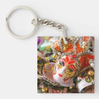Carnival Masquerade Masks in Venice Italy Keychain