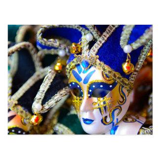 Carnival Masquerade Masks in Venice Italy Postcard