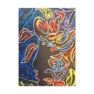 Carnival Masquerader Profile painting canvas