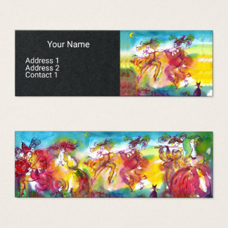 CARNIVAL NIGHT Masquerade Dance,Music Black Paper Mini Business Card