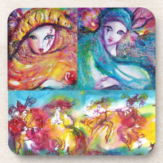CARNIVAL NIGHT Masquerade Masks ,Dance and Music Coasters