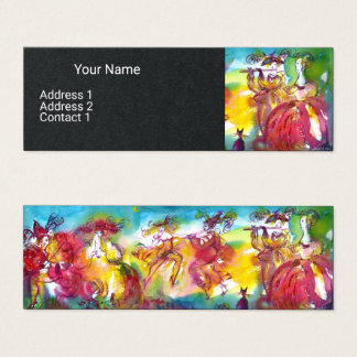 CARNIVAL NIGHT Music Masquerade Dance Black Paper Mini Business Card