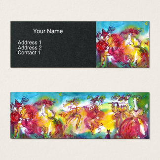 CARNIVAL NIGHT Music Masquerade Dancer Black Paper Mini Business Card