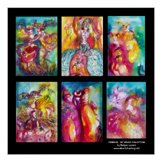 CARNIVAL OF VENICE COLLECTION Dance Music Theater Poster