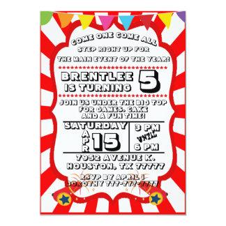 Carnival Party Invitation, Circus Invitation