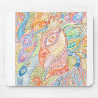 Carnival peacock mouse pad