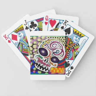Carnival Skull Bicycle Playing Cards
