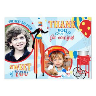 Carnival Stilt Walker Cotton Candy Thank You Card