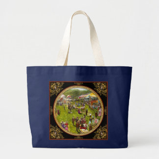 Carnival - Summer at the carnival 1900 Large Tote Bag