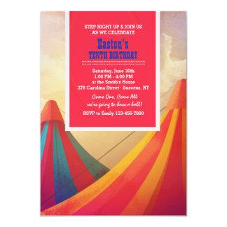 Carnival Tents Invitation