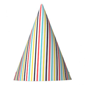 Carnival Vertical Thin Stripes Party Hat
