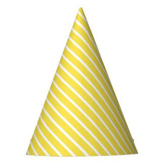 Carnival Yellow Diagonal Stripe Party Hat