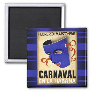 Carnivale in Havana 1941 Vintage Magnet