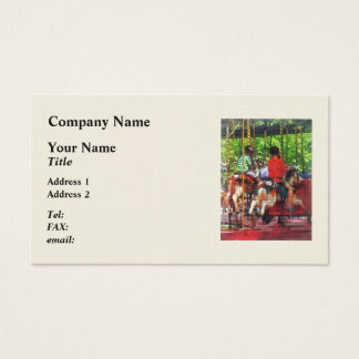 Carnivals - Friends on the Merry-Go-Round Business Card