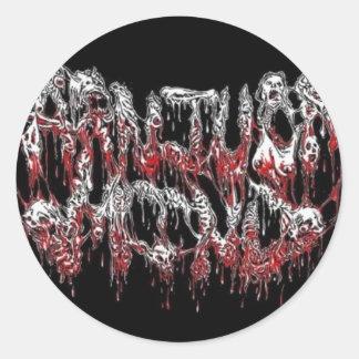 carnivore mind classic round sticker