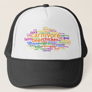 Carnivore Wordle Trucker Hat