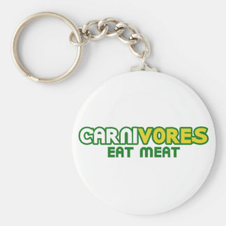 Carnivores Eat Meat Funny Parody Keychain