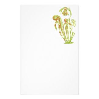 Carnivorous Plant Botanical Art Custom Stationery