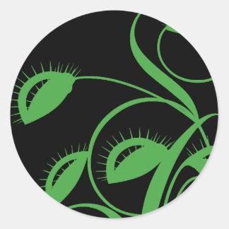 Carnivorous Venus Flytrap Classic Round Sticker