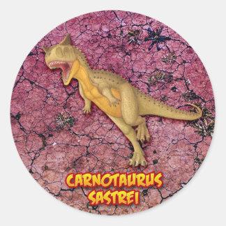 Carnotaurus Classic Round Sticker