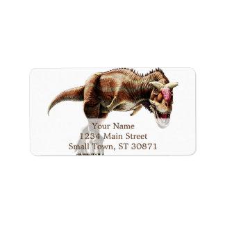 Carnotaurus Gift Awesome Carnivorous Dinosaur Label
