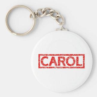 Carol Stamp Keychain