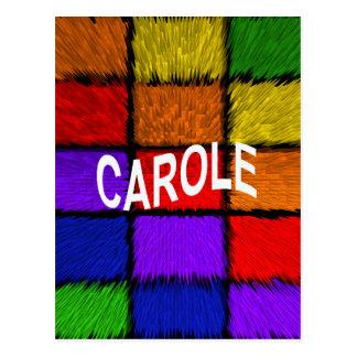 CAROLE POSTCARD