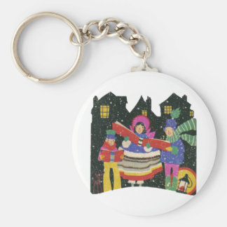Carolers Keychains