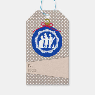 Carolers Ornament Gift Tag Pack Of Gift Tags
