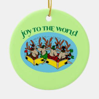 Carolers Reindeer Christmas Tree Ornament