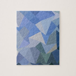 Carolina Blue Abstract Low Polygon Background Jigsaw Puzzle