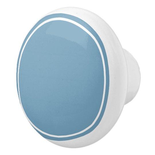Carolina Blue and White Ceramic Knob