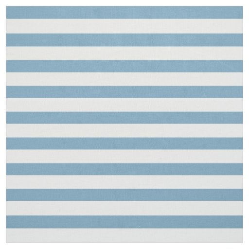 Carolina Blue and White Small Stripes Fabric